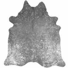 Koeienhuid spotted geverfd zilver