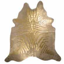 Koeienhuid zebraprint geverfd goud