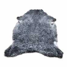 Uncombed grey sheepskin