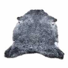 Uncombed grey sheepskin