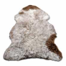 White/Cognac Texel's furry sheepskin