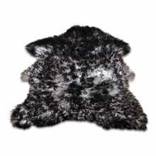 Black/Grey curly Gotland sheepskin
