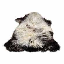 Curly black & white Gotland sheepskin