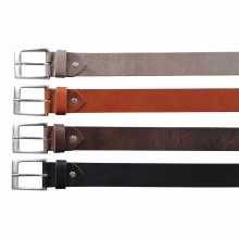 Beige, cognac, brown and black leather belt