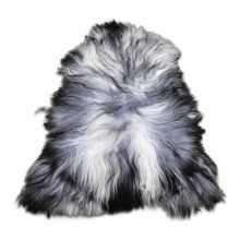 Grey/white Icelandic sheepskin