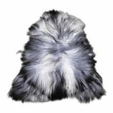 Grey/white Icelandic sheepskin