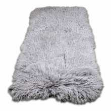Taupe rectangular sheepskin rug
