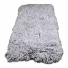 Taupe rectangular sheepskin rug