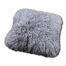 Taupe sheepskin pillow