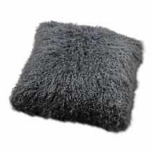 Gray sheepskin pillow