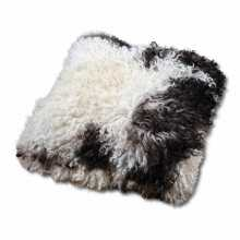 Black & White sheepskin pillow