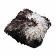 Brown & White sheepskin pillow