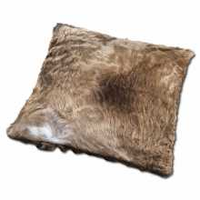 Champage colored cowhide pillow