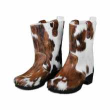 Cognac/White spotted cowhide Clumpy's