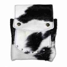 Black & White cowhide pouch