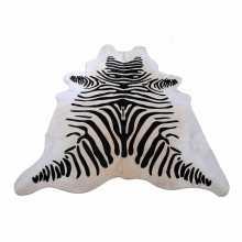 Zebra print cowhide skin