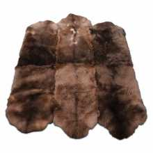 Brown three by two sheepskin rug