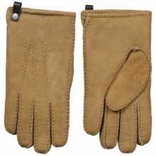 Camel kleur lamsvacht heren handschoenen