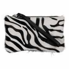 Clutch van Koeienhuid met Zebra Print
